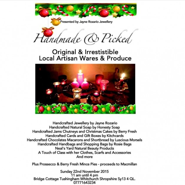 HANDMADE & PICKED Sunday 22nd November